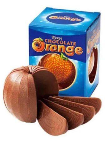 Шоколад под формата на портокал.Внос от Англия!!!