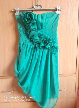 Официална рокля без презрамки - нова