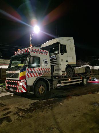 Tractari auto Camioane, transport utilaje grele buldo,taf,manitou