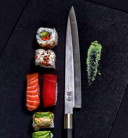 Японски нож KAI Wasabi Black Yanagiba , включена доставка