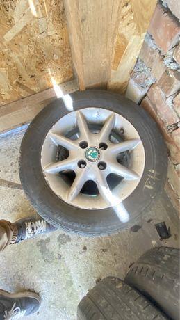 Jante aliaj Skoda VW Seat 4x100 + cauciucuri de vară