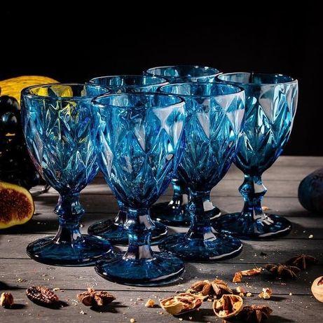 Стаканы фужер синий цвет