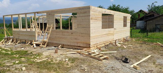 Vând căsuța de locuit din lemn