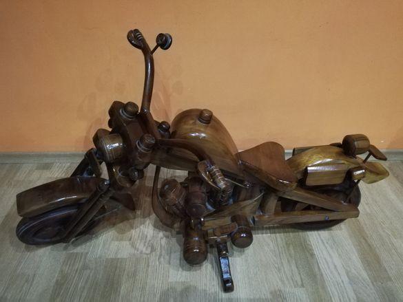 Дървен мотор харлей