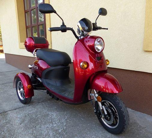 Tricicleta Electrica Z-Tech ZT-63 Trilux, Visiniu, Motor 650W , Rosu