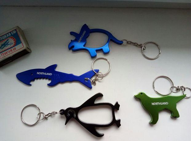 Брелок на ключи. Оригинал Northland. Подарок. Акула. Динозавр. Собака.