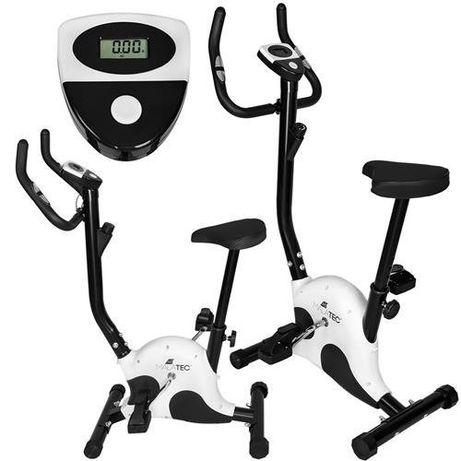 Bicicleta fitness, max 100kg, alb/negru Malatec