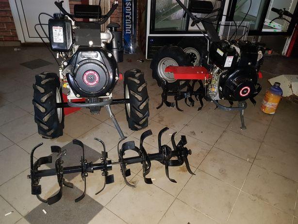 Motocultor diesel nou roti ,freze 1 metru ,grup pinioane,2 prize