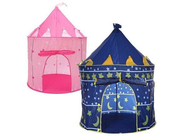 Голяма детска палатка замък в два цвята 135 х 105 см