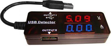 Voltmetru/Ampermetru USB - 3,2-15V/0-3A C.C.