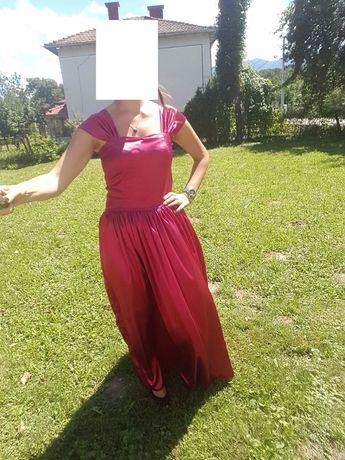 Официална сатенена рокля