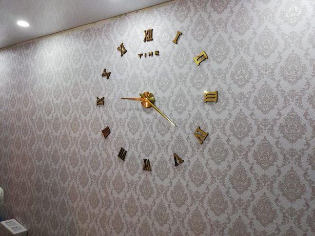 Эксклюзивные часы! 3д часы! 3 д часы на стену!ДОСТАВКА БЕСПЛАТНО!