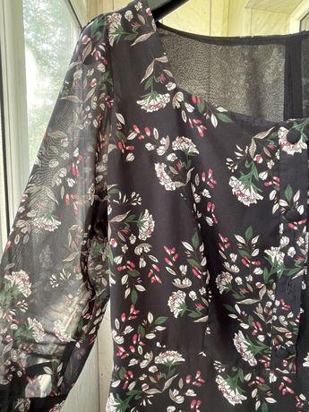 Шифоновое платье ручной работы 48 р