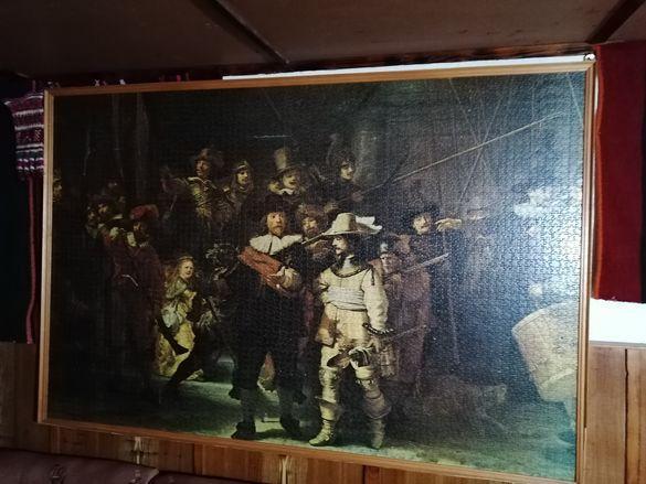Картина-пъзел наредена в рамка-5200части