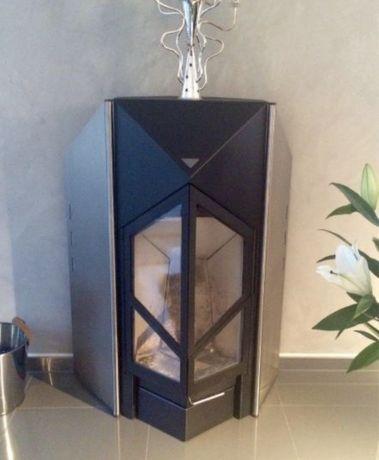 Semineu soba focar fonta inox Design Hase Pret nou 4700 Euro