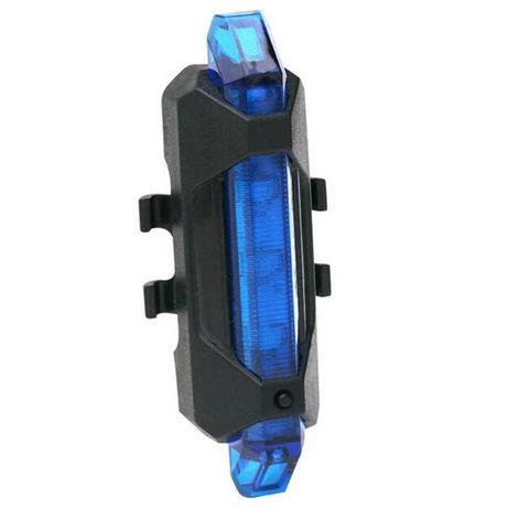 Lampa LED , USB,bicicleta spate , albastra