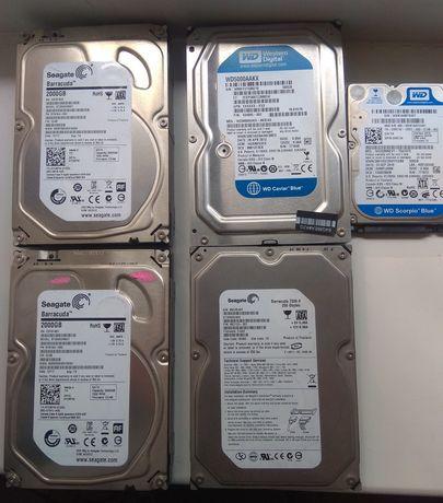 Жёсткие диски HDD 2Tb 500Gb 320Gb 250Gb