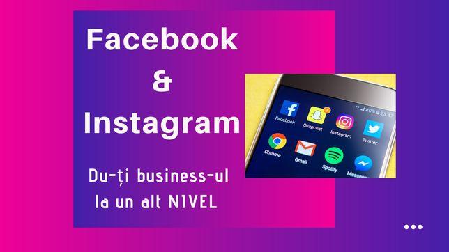 Administrare pagini de Instagram/Facebook