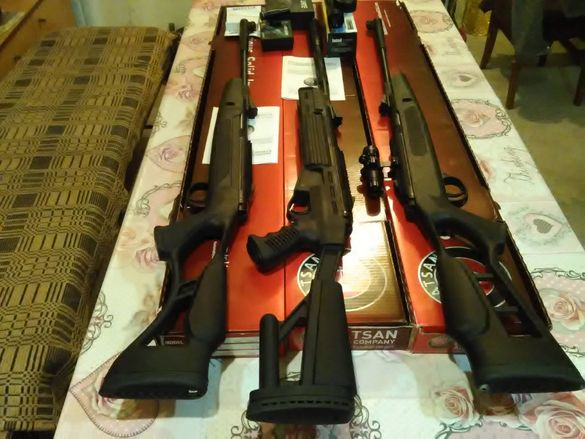 Продавам чисто нови въздушни пушки Хатсън 5.5 и 6.35мм