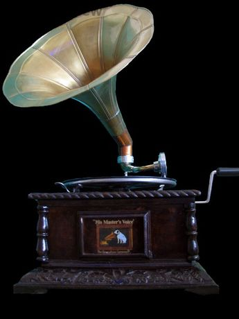 грамофон-модел началото на 20 век-с фуния