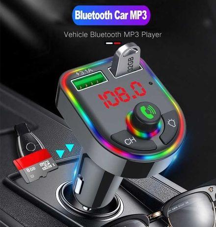 modulator Fm Bluetooth Auto cu chip Xiaomi 2usb 3A carkit handsfree