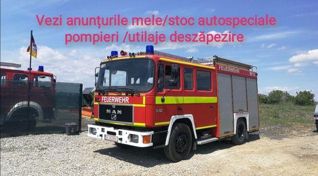Autospeciala Pompieri bazin apa 4x4 3 bucăți stoc