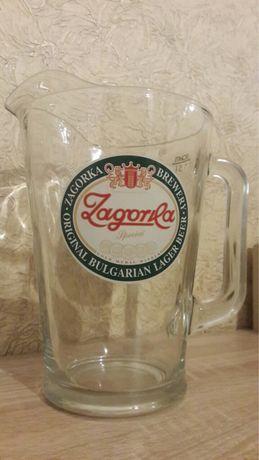 Стъклена кана Загорка 1.5 литра