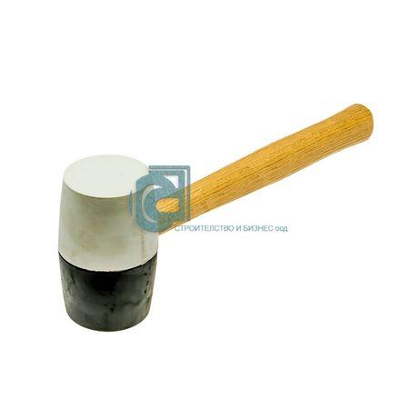 Чук гумен, черна и бяла гума, дървена дръжка /FASTER TOOLS