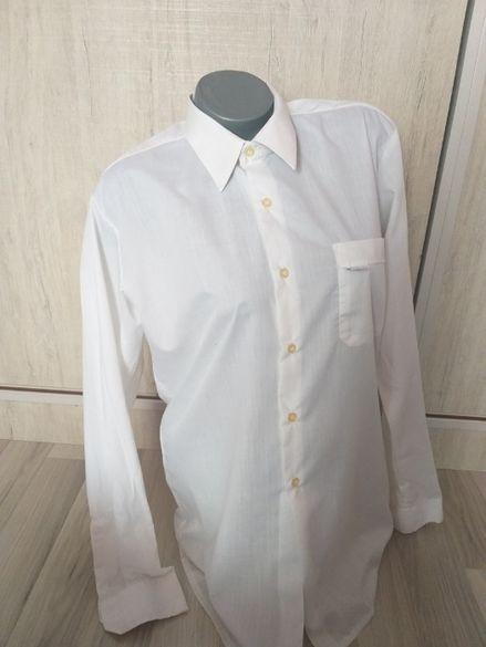 Бяла мъжка памучна риза - 7,00лв.