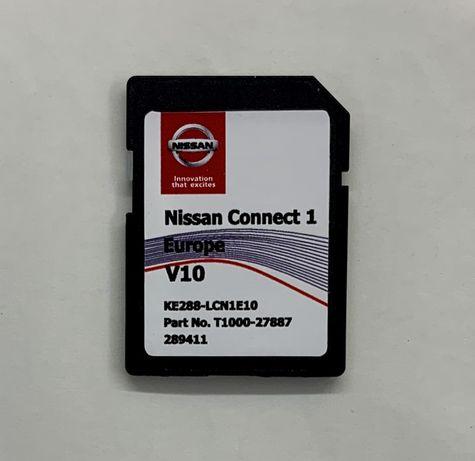 NISSAN Connect LCN1 Navi SD CardEuropa 2020 V10 QUASHQAI CUBE JUKE