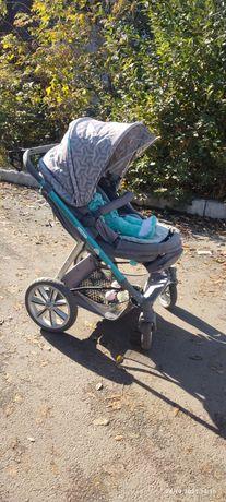 Коляска happy baby + автолюлька в подпрок