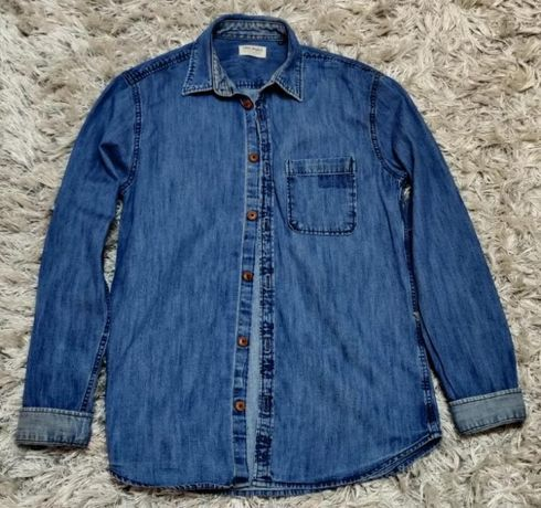 Camasa blugi/jeans/denim baiat/barbat JACK & JONES masura M