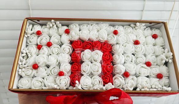 Мече рози сърце рози кутия рози дърво рози подарък
