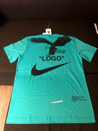 Nike/Off-White Special Project тениска сезон 2019 Аква синьо и черно