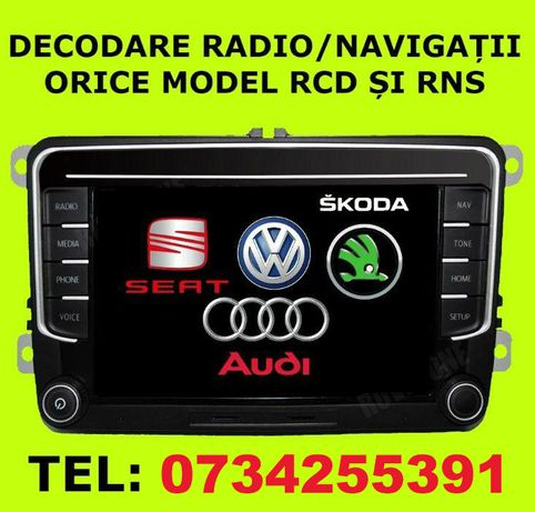 Decodare Online! Cod Radio Navigatie VW AUDI SKODA SEAT RNS RCD MFD