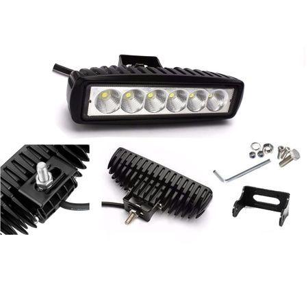 Proiector LED Auto Offroad 18W 12V - 24V, 1080 Lumeni, Dreptunghiular,