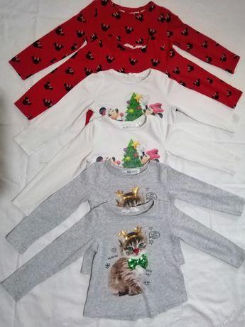 Pulovere motive Crăciun, Pulovere Takko,bluze h&m,104cm, fetite gemene