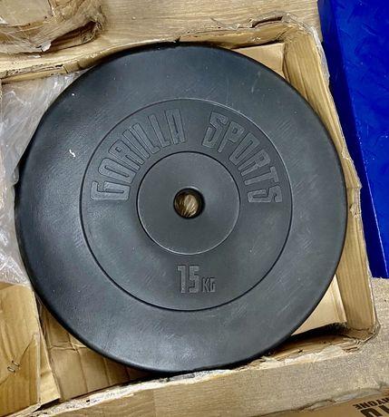 Discuri, Disc haltera gantere greutati 15 kg Gorilla Sports Germany