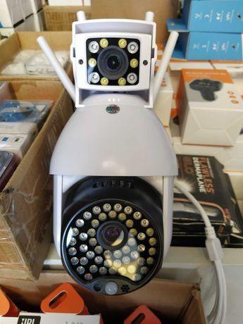 Двойна WiFi безжична IP камера 2MP FULL-HD1080P нощно ви. проследяване