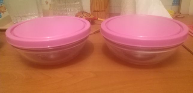 Стекляный набор салатников