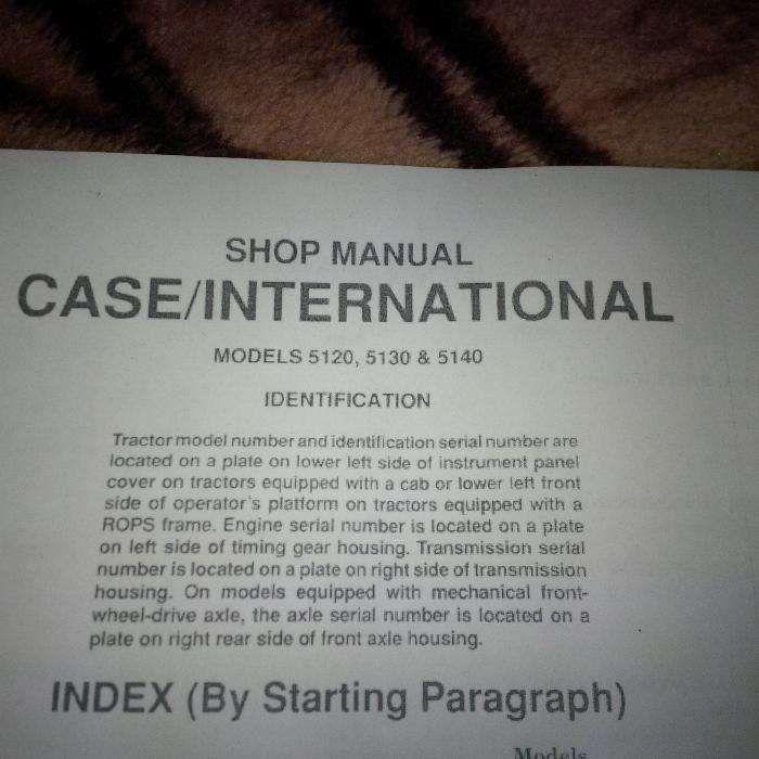 Manual instructiuni tractor CASE 5120, 5130, 5140, engleza, 126 pagini Bucuresti - imagine 1