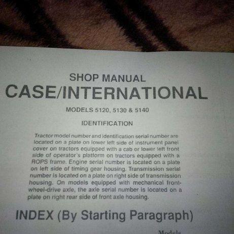 Manual instructiuni tractor CASE 5120, 5130, 5140, engleza, 126 pagini