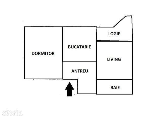 Apartament cu 2 camere decomandat in piata Marasti!