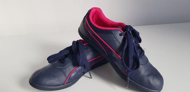 Pantofi sport fete - Puma, albastru/roz, 33