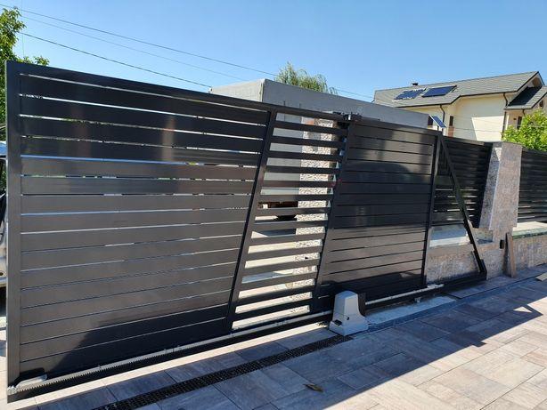 Porți si gard Aluminiu cu lamele