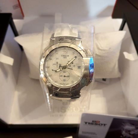 Часовник Tissot T-race с 10 диамантчета и седефен циферблат
