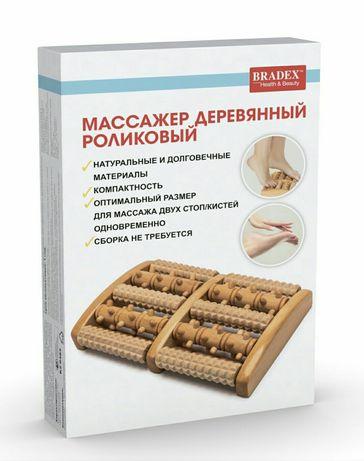 Массажёр деревянный роликовый