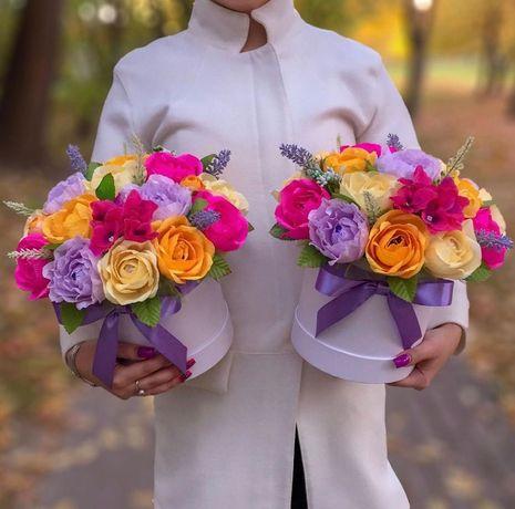 Ръчно изработени цветя от креп хартия