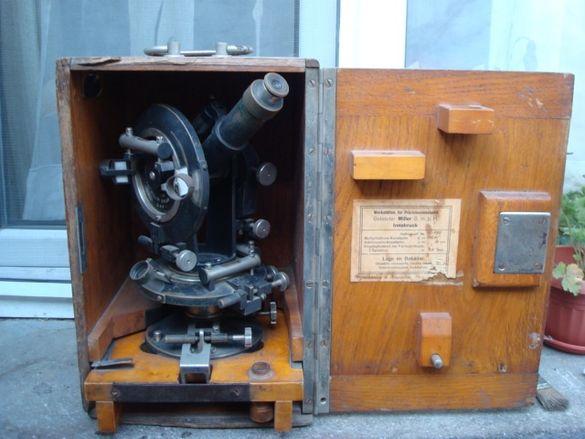Стар уред, теодолит, инструмент, нивелир, оптика, колекция, интериор