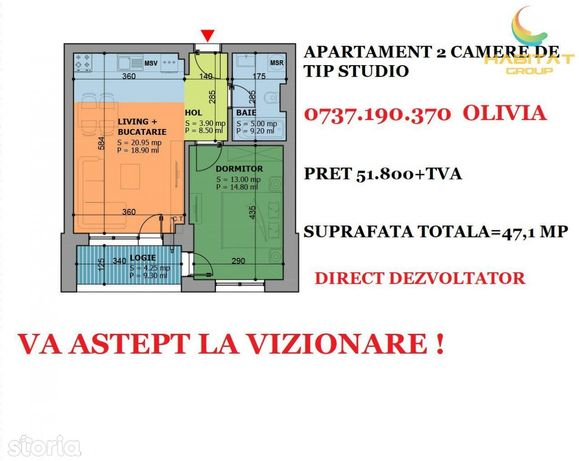 Oferta excelenta! 2 camere decomandat zona Turnu Magurele-Luica
